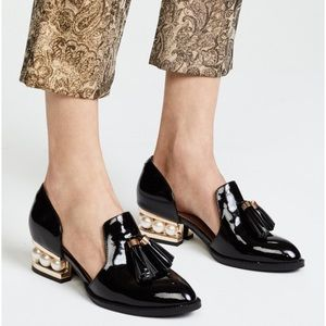 Jeffrey Campbell Civil Heel Loafers in Black